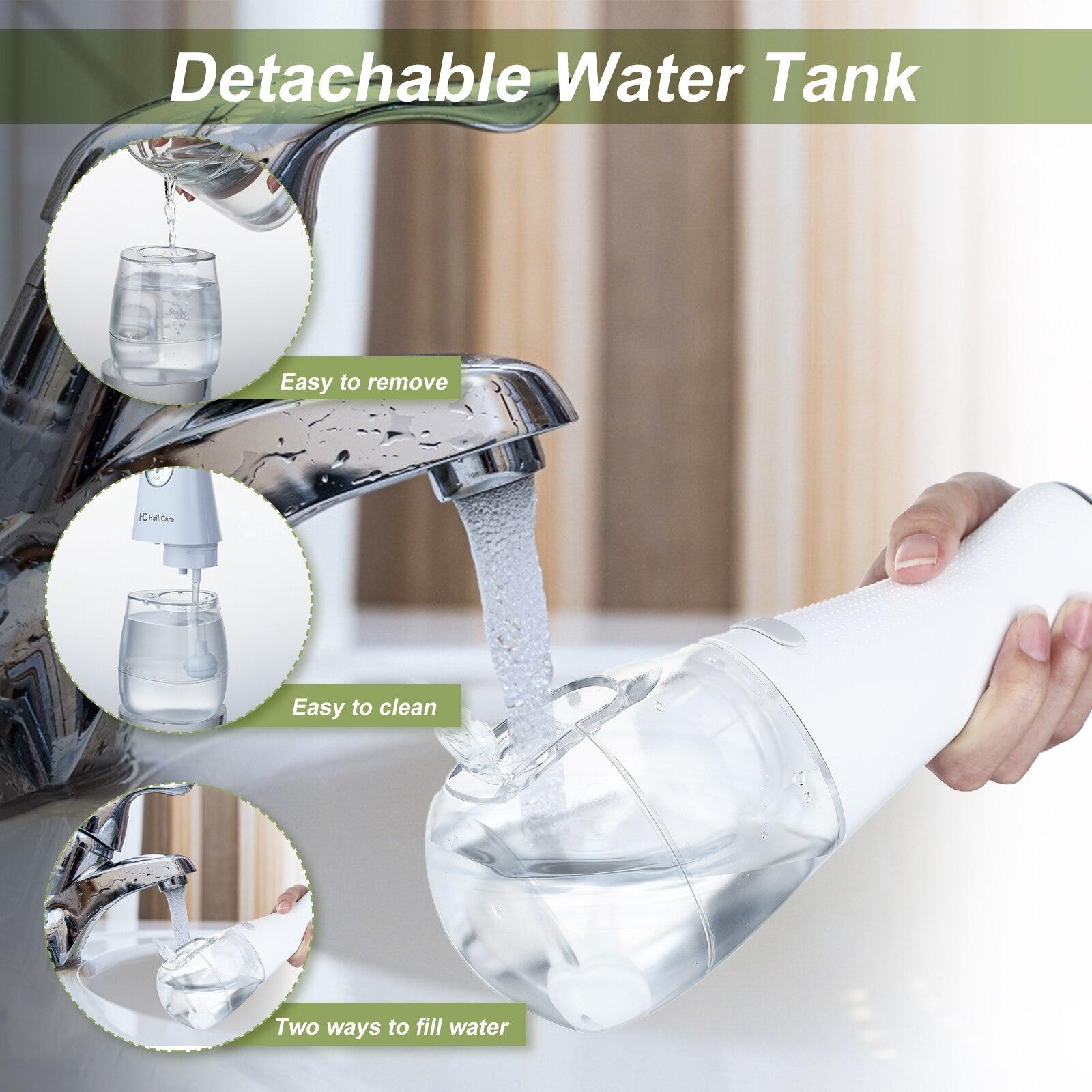 Electric Oral Irrigator USB Rechargeable Water Flosser Portable Dental Water 350ML Water Tank Waterproof Teeth Cleaner 5 Tips enlarge