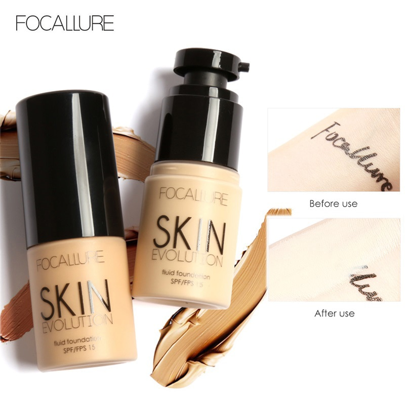FOCALLURE 30ML Basis Gesicht Flüssige Foundation Creme Full Coverage Concealer Öl-control Einfach zu Tragen Weiches Gesicht Make-Up foundation