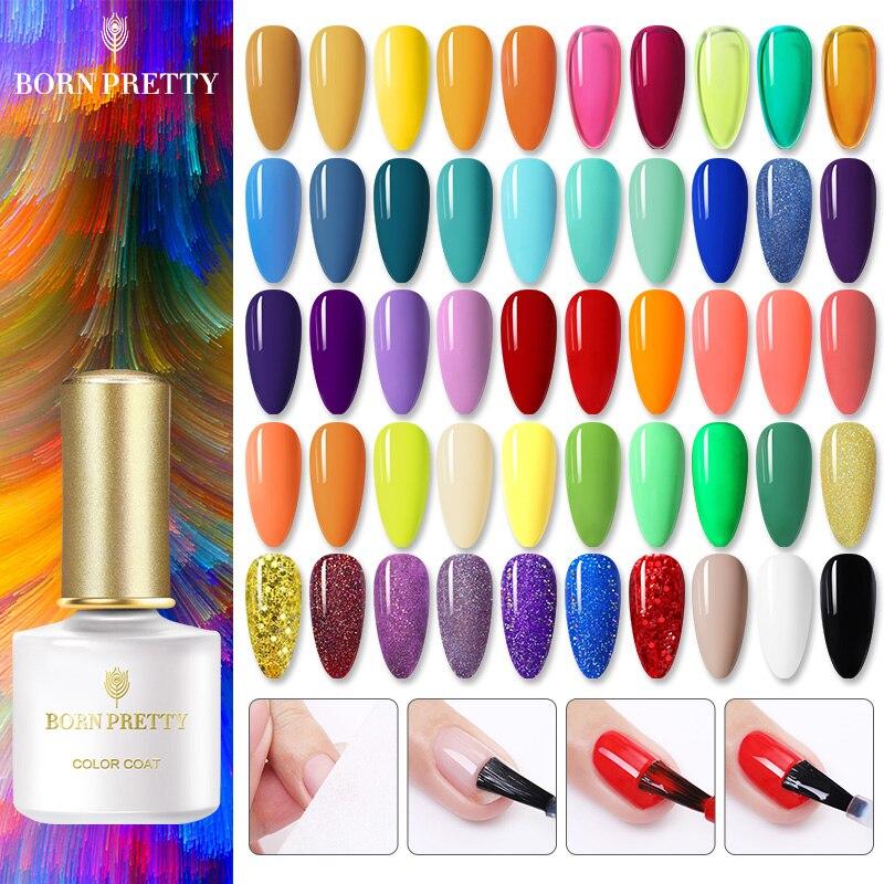 BORN PRETTY Gel Nail Polish Varnish Soak Off UV LED Nail Art Gel Bright Color Semi-Permanent Nail-Primer Base Top Coat недорого
