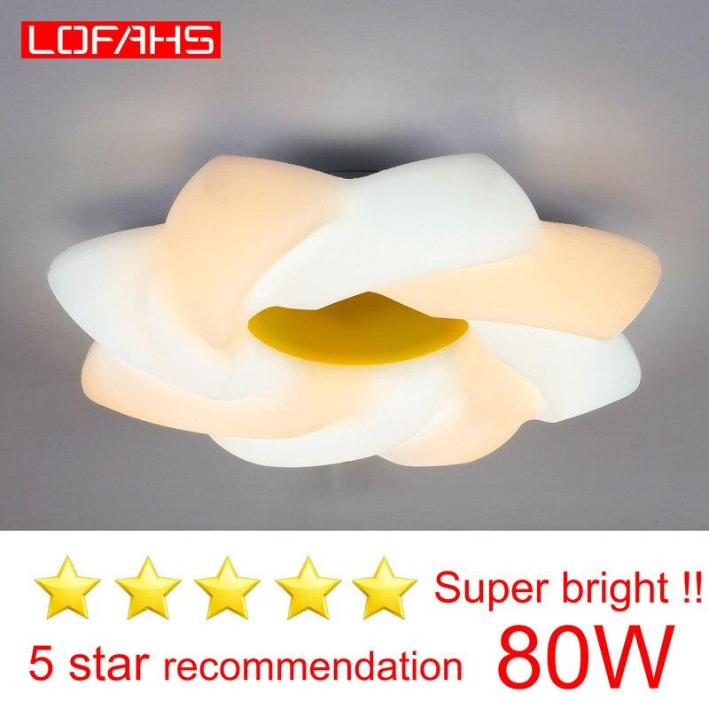 Lofahs moderna conduziu a luz de teto para sala estar quarto cozinha alta brilhante lâmpada do teto do turbilhão 80w dispositivo elétrico iluminação