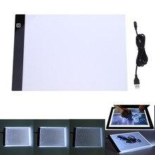 A4 LED Tekening Tablet Digitale Grafische Pad USB LED Light Box Kopie Boord Elektronische Art Grafische Schilderen Schrijven Tafel