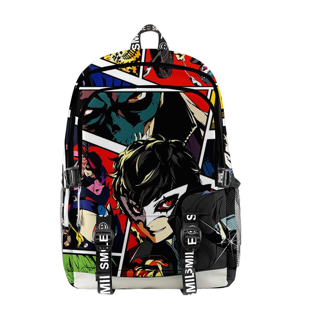 2021 شخصية ثلاثية الأبعاد طباعة الرجال النساء على ظهره أكسفورد حقيبة مدرسية الهيب هوب نمط المراهقين الطفل حقيبة حقيبة السفر