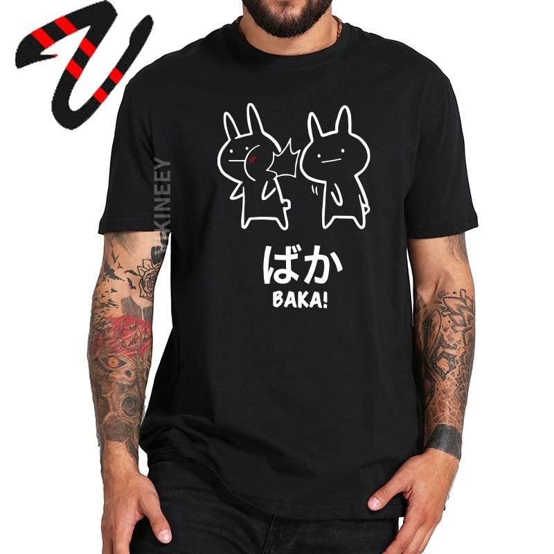 Baka Rabbit Slap camiseta Anime japonés lindo Tops sudadera 100% algodón Premium o-cuello camiseta novedad Cute Japón camiseta tamaño EU