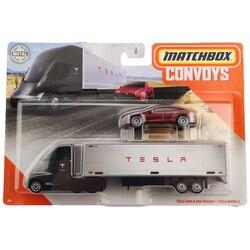 Matchbox comboios tesla semi caixa de reboque e tesla modelo s collector edição metal diecast modelo carro brinquedos