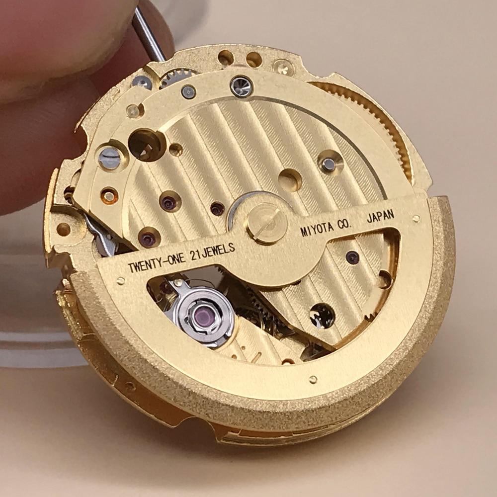 Japan Original Miyota 82S7 Automatic Manual Winding Movement Front View Skeleton Brand Wristwatch Replacement enlarge