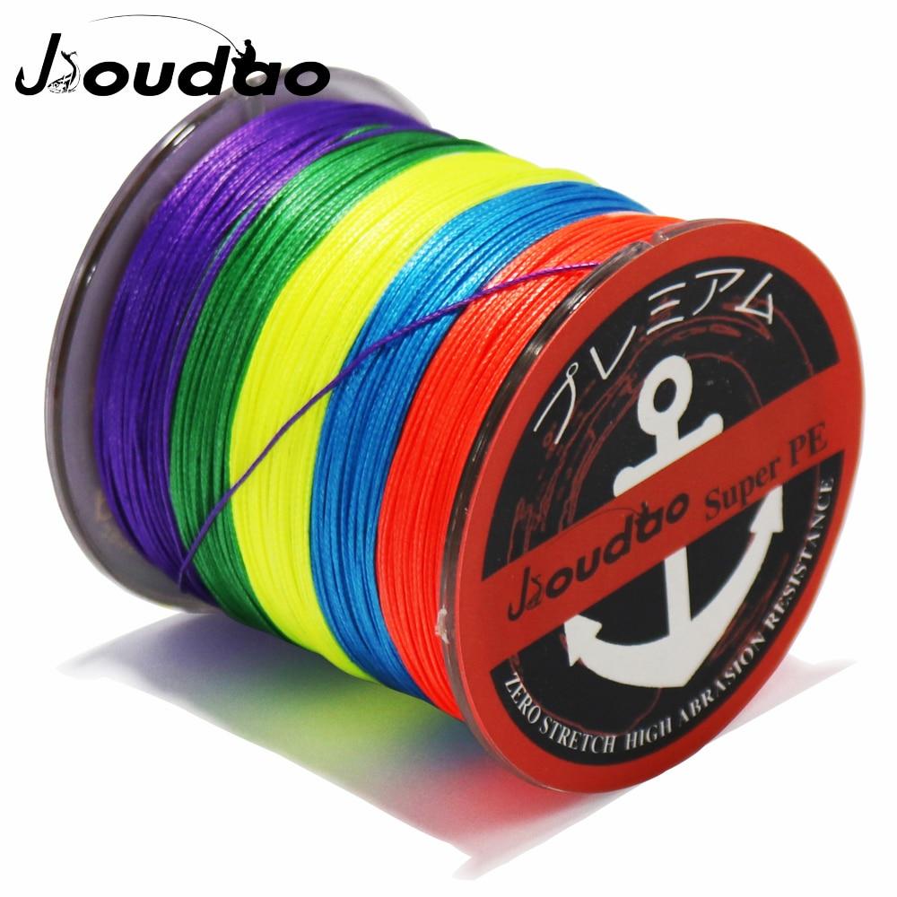 Jioudao 8 Strands Braided Fishing Line 500M PE Wire 8LB-160LB Multifilament Braid Fishing Line 7 Colors To Choose