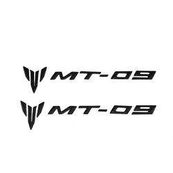 Motocicleta 3d carbono assento traseiro carenagem lateral decalques adesivos emblema para yamaha mt 09 mt09 acessórios