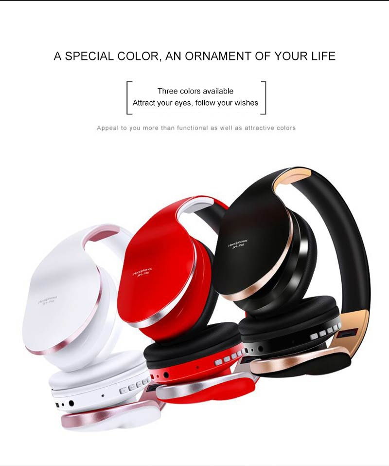PunnkFunnk Wireless Headset Bluetooth Headpone 5.0 Foldablel Deep Bass Stereo Noise Reduction Gaming Earphone For Mobile PC Xbox enlarge