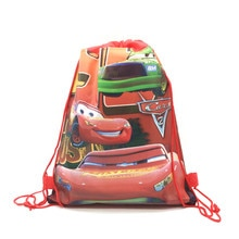 1pcs High Quality Disney Cars Theme Drawstring Bags Kid Cotton Travel Pouch Storage Clothes Shoes Ba