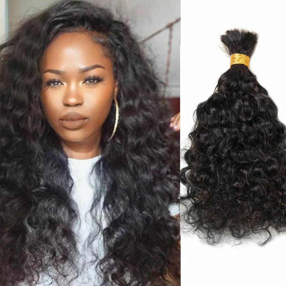 Вьющиеся человеческие волосы оптом для плетения, необработанные бразильские натуральные человеческие вьющиеся волосы для наращивания без...