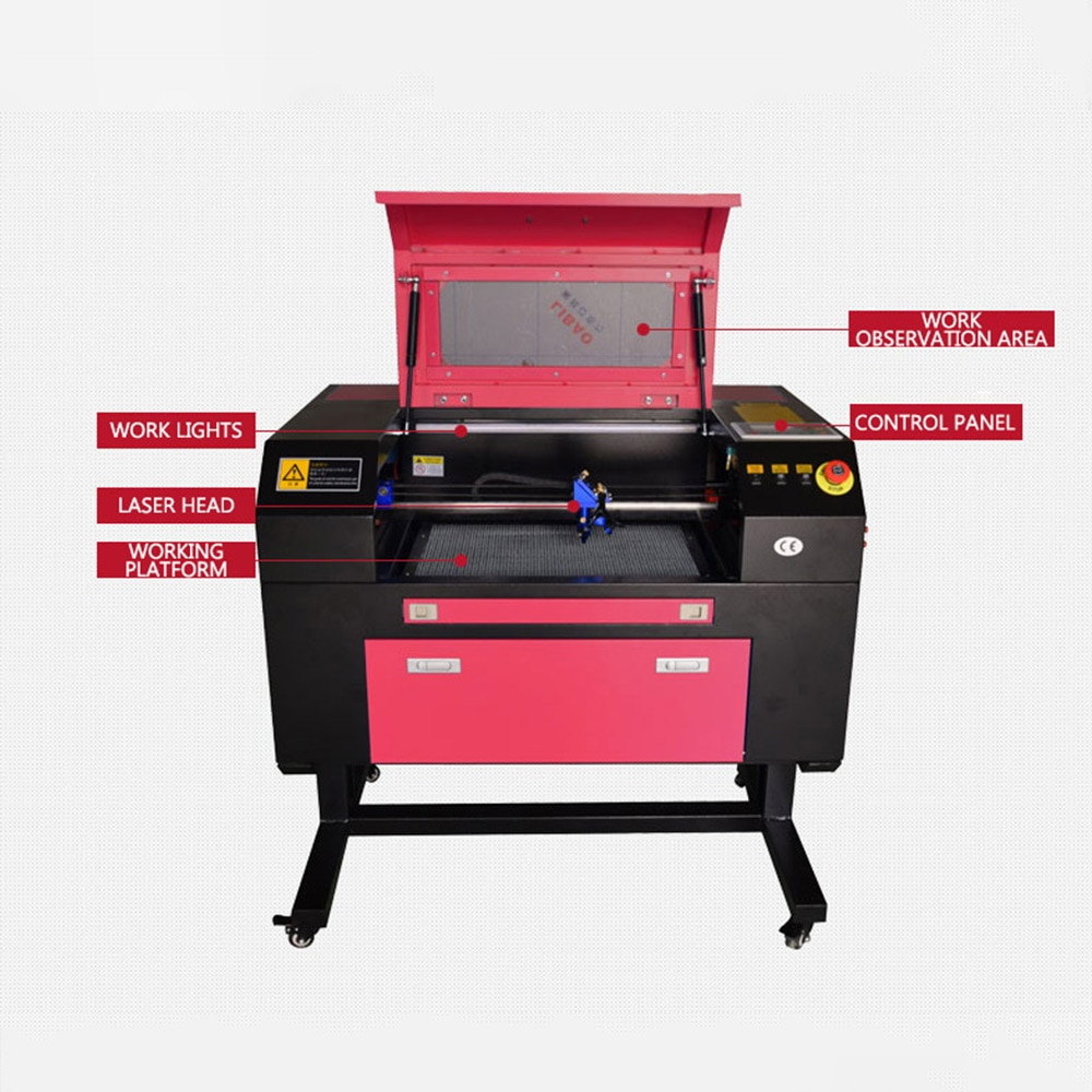 3050 50w CNC Laser engraving machine Suitable for textile, leather ,plastic, wood ,glass, crystal stone carving enlarge
