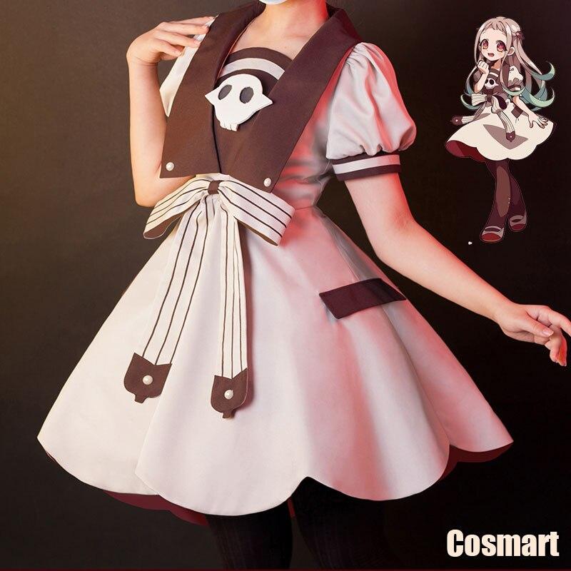 [Estoque] anime toilet-bound hanako-kun jibaku shounen yashiro nene lolita jk vestido cosplay traje de halloween para meninas wo