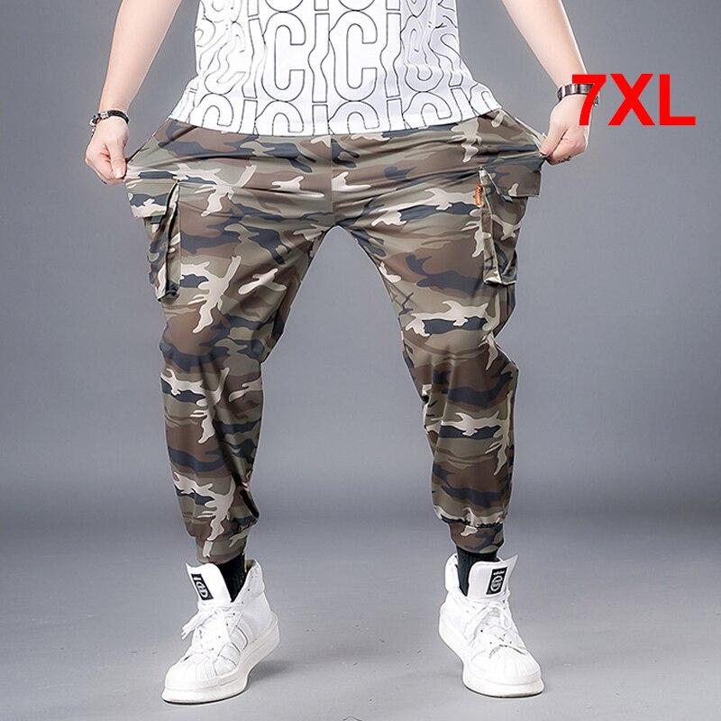 Брюки-карго мужские, джоггеры, спортивные брюки, камуфляжные брюки в стиле милитари, рандомные брюки 7XL, Повседневная Уличная одежда, мужски...