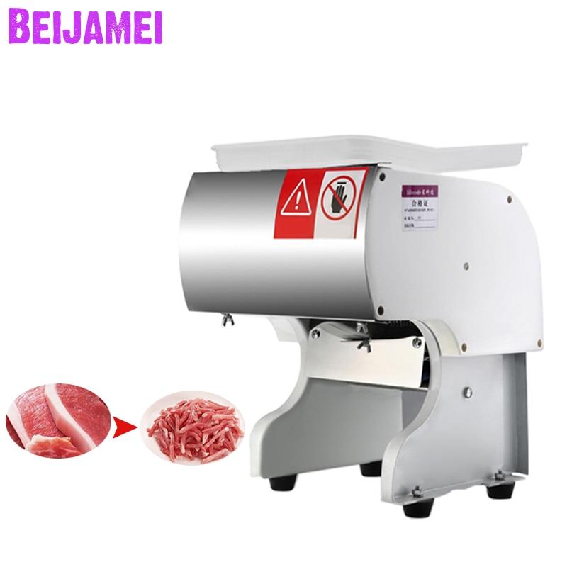 BEIJAMEI comercial Vertical de carne máquina de corte de 130 kg/h de corte de carne máquina trituradora de carne eléctrica cortadora