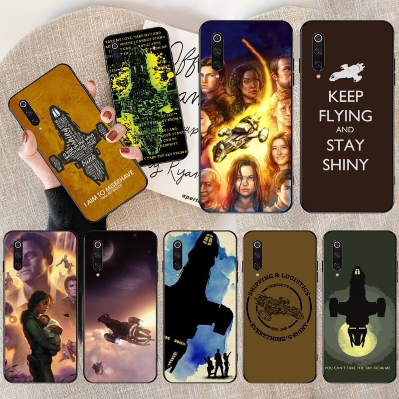 CUTEWANAN Firefly Serenity Quote DIY Painted Bling Phone Case for Xiaomi Mi9 9SE 8SE Pocophone F1 Mi8 Lite