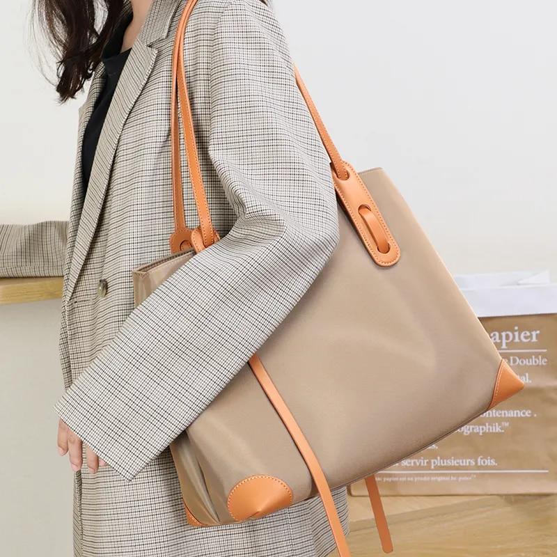 حقيبة أنيقة ذات سعة كبيرة حقيبة تسوق محمولة غرفة واحدة