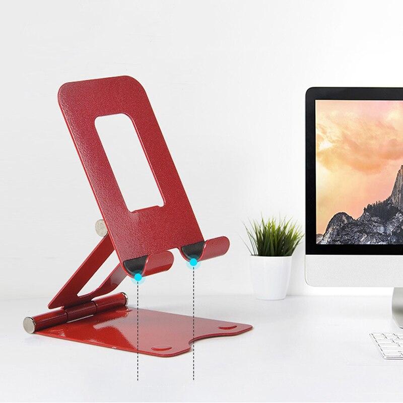 Soporte de mesa plegable extensible soporte de Metal para tableta escritorio soporte de teléfono móvil soporte para IPhone IPad soporte ajustable