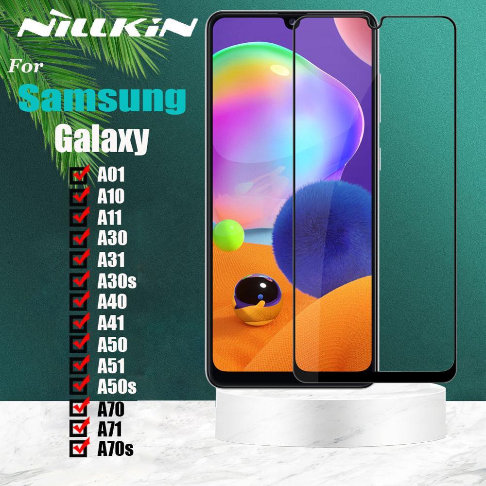 Nillkin la cobertura completa de la pantalla de cristal templado de Protecotor para Samsung Galaxy A01 A10 A11 A30 A31 A30s A40 A41 A50 A50s A51 A70 A71