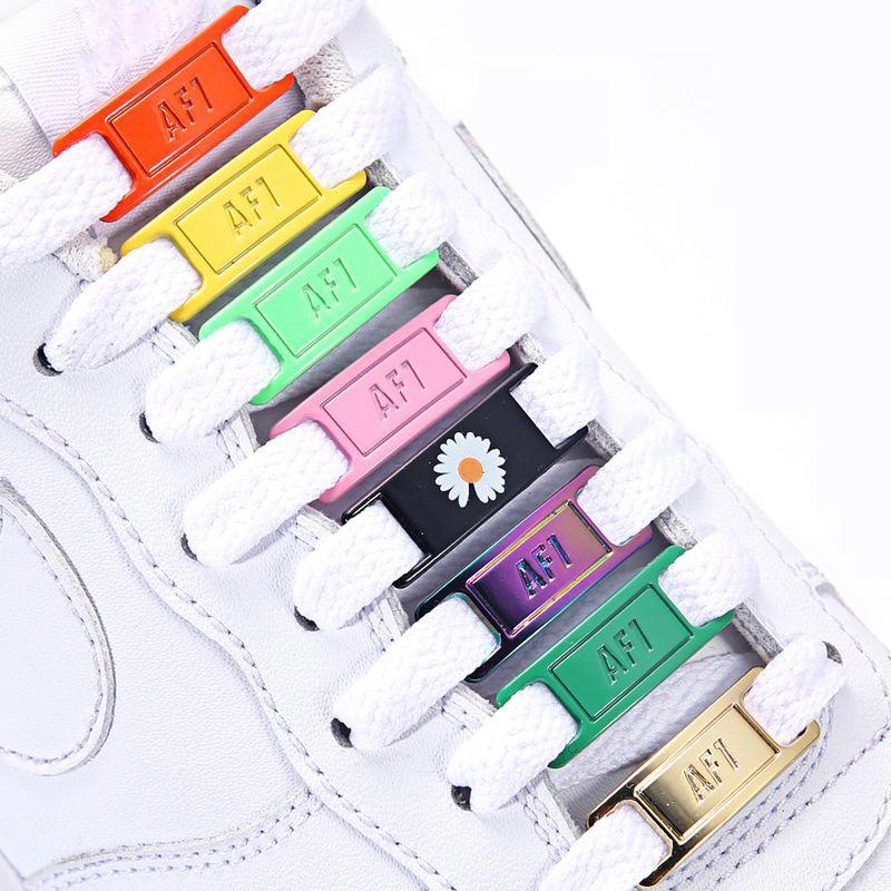 AJ/AF Shoelace Buckle DIY Sports Shoes Shoe Accessories High Quality Metal Material Suitable for All Shoe Lace Decoration AJ-00