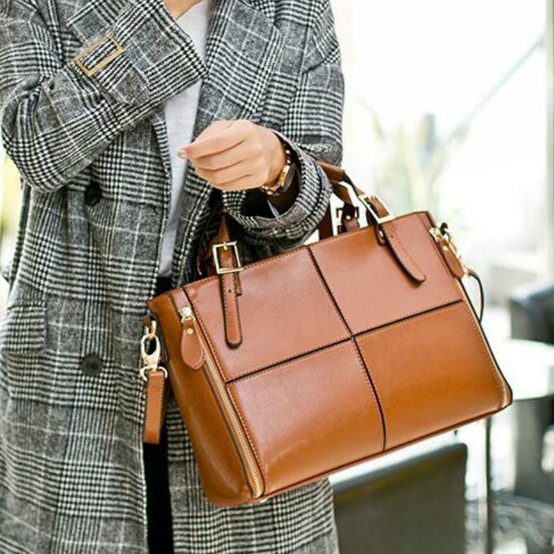 Luxury Handbags Women Bags Designer Split Leather Bags Women Handbag Brand Top-handle Bags Female Sh