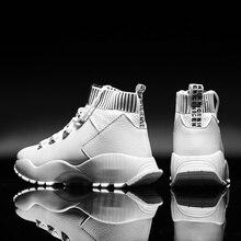 Men Sports Trend Shoes 2019 Fashion Men Vulcanize Shoes Comforthable Casual Shoes Men Black White Shoes Zapatillas Hombre