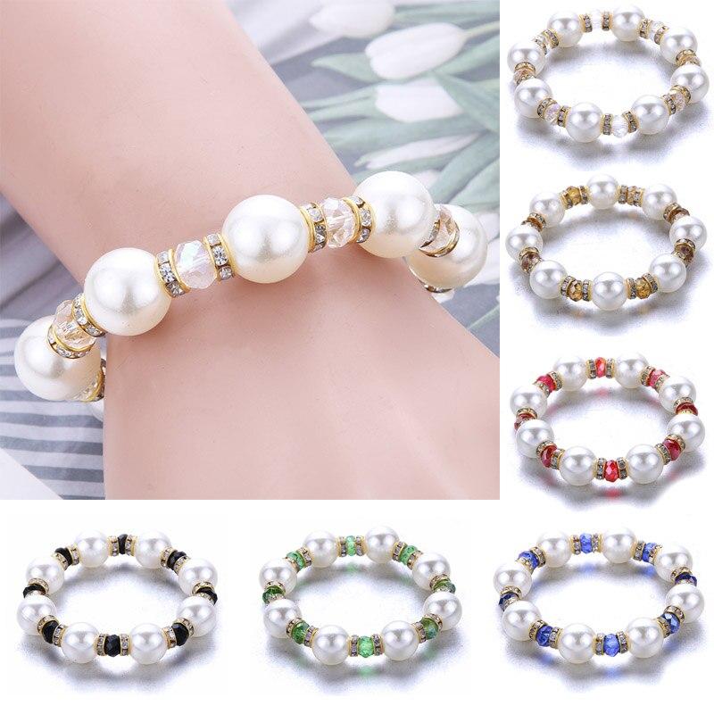 Nuevo para las mujeres de cristal de moda pulsera de amuleto de pierda Natural pulseras de joyería colgante de alta calidad de las mujeres es la fabricación de la joyería