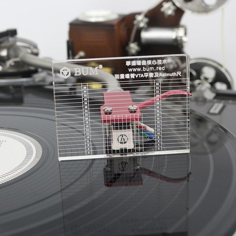 LP проигрыватель виниловых пластинок измерительный Phono тонарм VTA/картридж азимут линейка баланс картридж азимут линейка головная повязка пр...