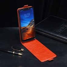 IDEWEI for Pocophone F1 Case High Quality Up Down Flip Leather Fundas Cover for Xiaomi Pocophone F1