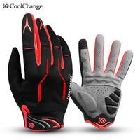 Перчатки велосипедные Coolchange, для мужчин и женщин, противоударные, с закрытыми пальцами, для езды на горном велосипеде
