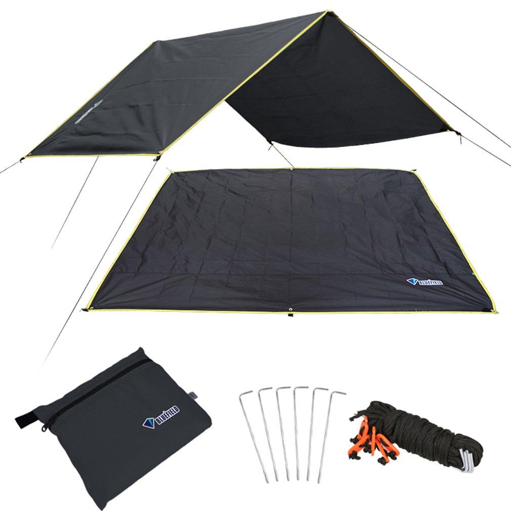 4-6 أشخاص خفيفة متعددة الوظائف مقاوم للماء خيمة قماش القنب بصمة لوح أرضي حصيرة للتخييم في الهواء الطلق المشي لمسافات طويلة نزهة