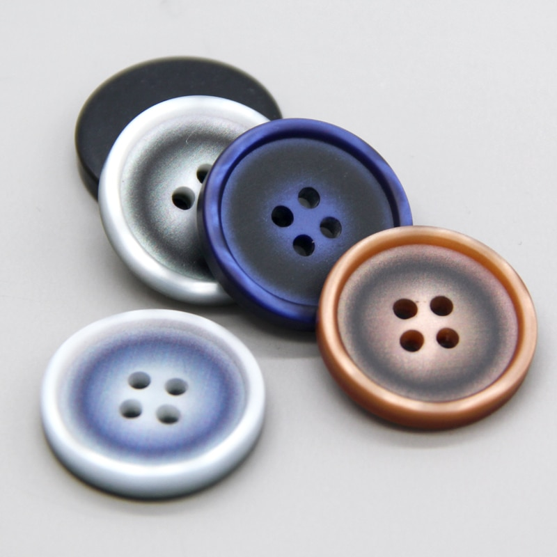 4 Holes Fashion Colorful Resin Men Suit Sewing Buttons For Clothing Coat Sweater Decorative High Quality Accessories Wholesale