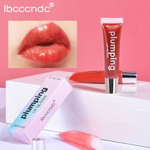 Brilho labial para lábios batom líquido pluming lábios sexy brilho hidratante de longa duração maquiagem glitter nutritivo vitamina e