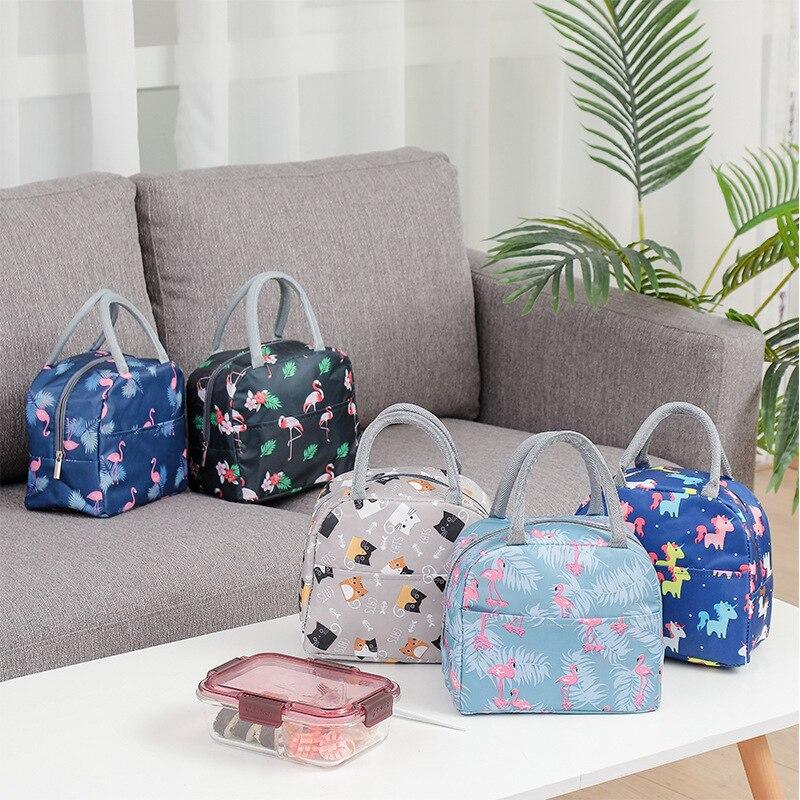 Портативная сумка для ланча, новинка, Термоизолированный Ланч бокс, сумка тоут, сумка холодильник, обеденный контейнер, школьные сумки для хранения еды Сумки для завтрака      АлиЭкспресс