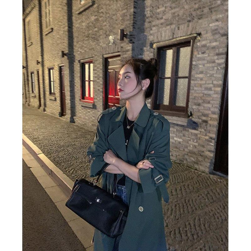 Khaki Trench Coat Windbreaker Women's 2021 New Spring And Autumn Coat Medium Long Early Autumn Small