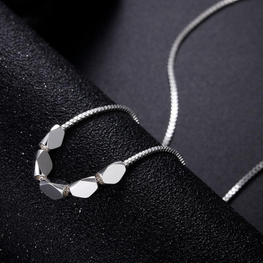 Новый-925-стерлингового-серебра-на-цепочке-венецианского-плетения-с-простым-геометрическим-кулон-для-женщин-модное-роскошное-Ювелирное-Укр