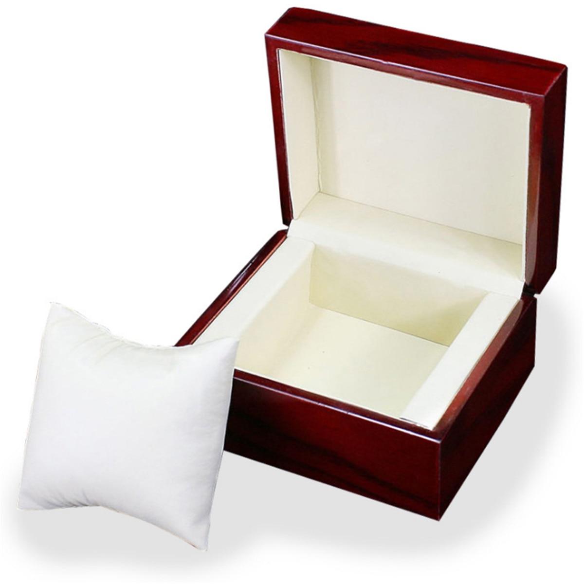 Retro Luxury Single Slot Wooden Wood Watch Case Wristwatch Box Organizer Storage