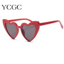 Love Heart Sunglasses Women Big Frame Personality Sunglass Fashion Cute Sexy Retro Cat Eye Vintage S