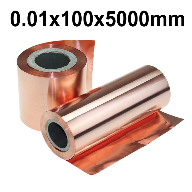 0.01mmx100mmx5m Copper Foil