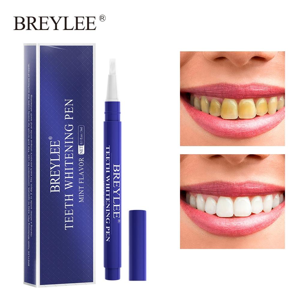Ручка для отбеливания зубов BREYLEE, сыворотка для глубокой очистки, удаление зубного налета, пятен, потертости зубов, гигиена полости рта, уход...