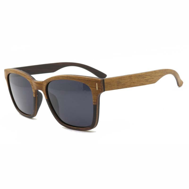 BerWer 2020 hombres gafas de sol polarizadas espejo de madera de la lente gafas de sol de las mujeres de la marca de diseño colorido diseño tonos hecho a mano
