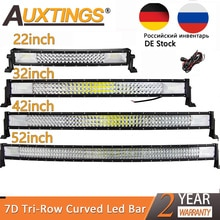 "Auxtings 22 ""32"" 42 ""52"" zoll Curved Led Light Bar Arbeiten Licht 7D led bar 3-reihe 4x4 Lkw ATV Auto Dach Offroad Fahr Licht Bar"