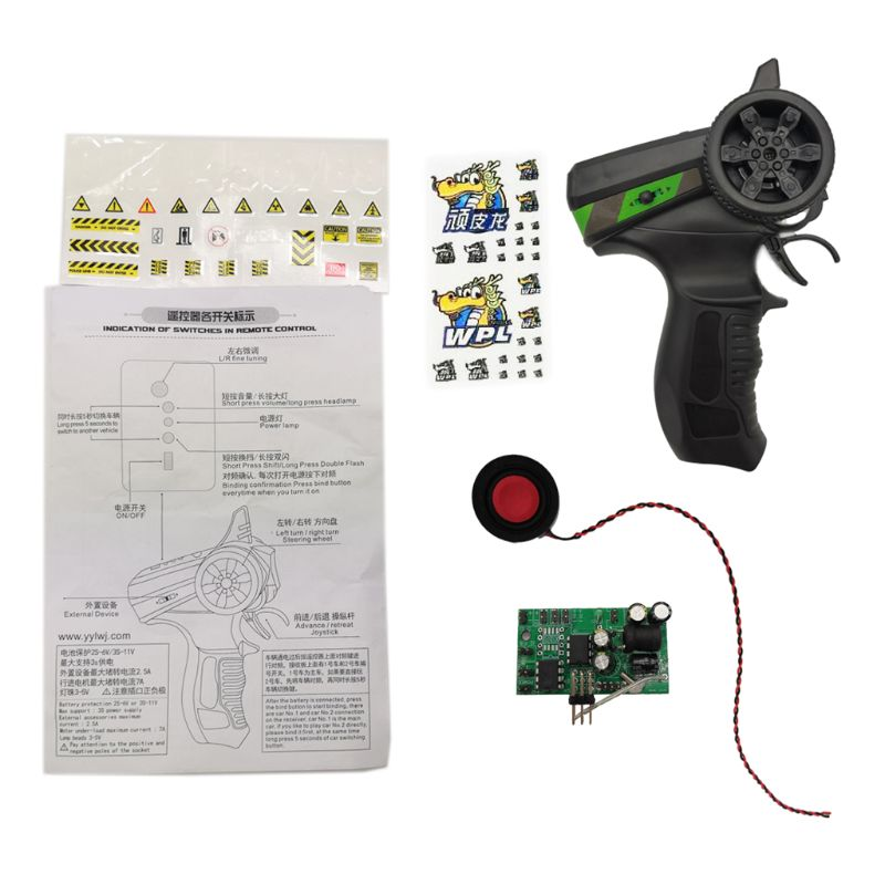 WPL 4WD 6WD RC Car Remote Control Engine Sound System Receiver Board Kit Parts enlarge