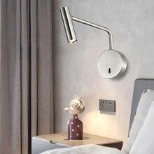 ZEROUNO-Lámparas de pared modernas para decoración Interior del hogar, interruptor LED de 3W para dormitorio, luz de lectura, mesita de noche, Interior del hogar