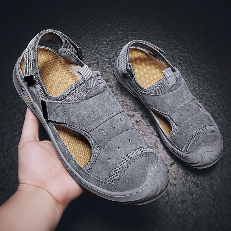 Masculino de Borracha para 2021 Homens Zapatillas Flops Usar Sapatos Moda Sandalias Sandalen Ete Couro Hombre Homem Flip Blade ar