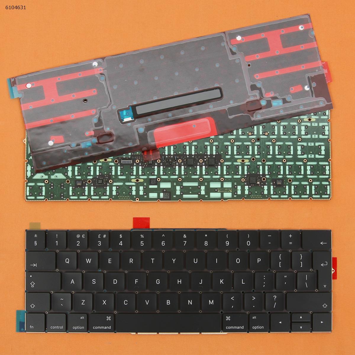 لوحة مفاتيح بديلة لجهاز Apple MacBook Pro A1707 ، تخطيط المملكة المتحدة ، كمبيوتر محمول 15 بوصة ، إدخال كبير مع لوحة بإضاءة خلفية ، جديد