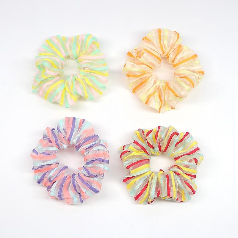 Bandas de moda para el cabello de mujer bandas para pelo para mujer coloridas bandas elásticas para el cabello Scrunchie niñas lazo para cabello bandas de goma