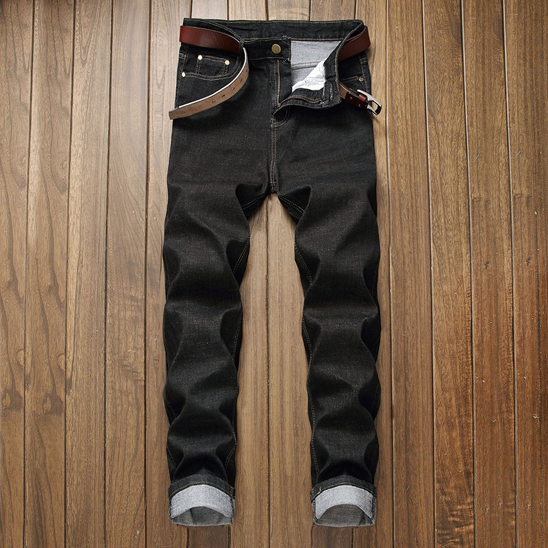 European and American light blue large jeans men's loose casual trend Hip Hop Pants skateboard pants