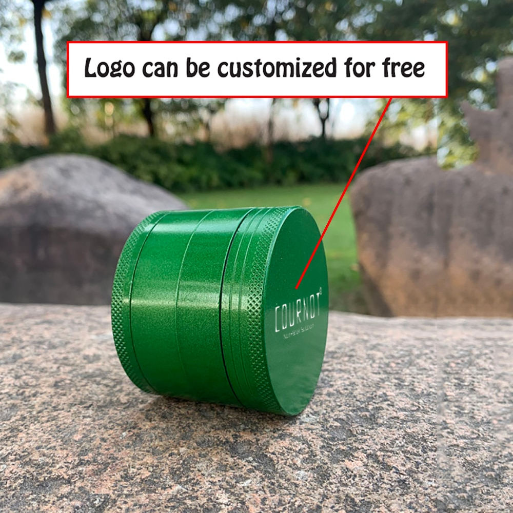 COURNOT 4 Layers Tobacco Grinder Herb Aluminum Alloy Non-Stick Metal 63MM 4 Layers Chrsher Tobacco Herb Grinder Accessories 4 layer tobacco grinder herb mill crusher 63mm aluminum alloy herb grinder tobacco smoke grinders men smoking accessories