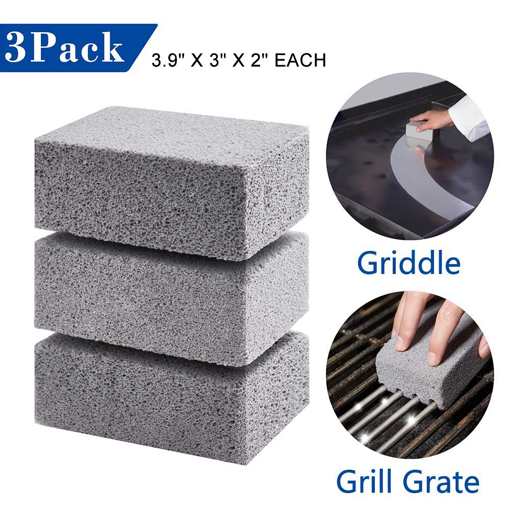 3Pack Griddle Grill Cleaning Brick Safely and Quickly Cleaning Flat Top Grills Removes Stubborn Grime