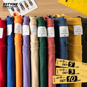 Extfine 100% Combed Cotton Short Sleeve T-shirt Men 2021 Summer Casual Tshirt Women Basic Harajuku Soft T Shirt Tops Tee